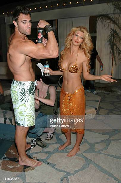 Justin Lopez and Amber Smith during Amber Smith Elena Talan and Justin Lopez on Location for 'Sin City Diaries' March 14 2007 at Red Rock Mansion in...