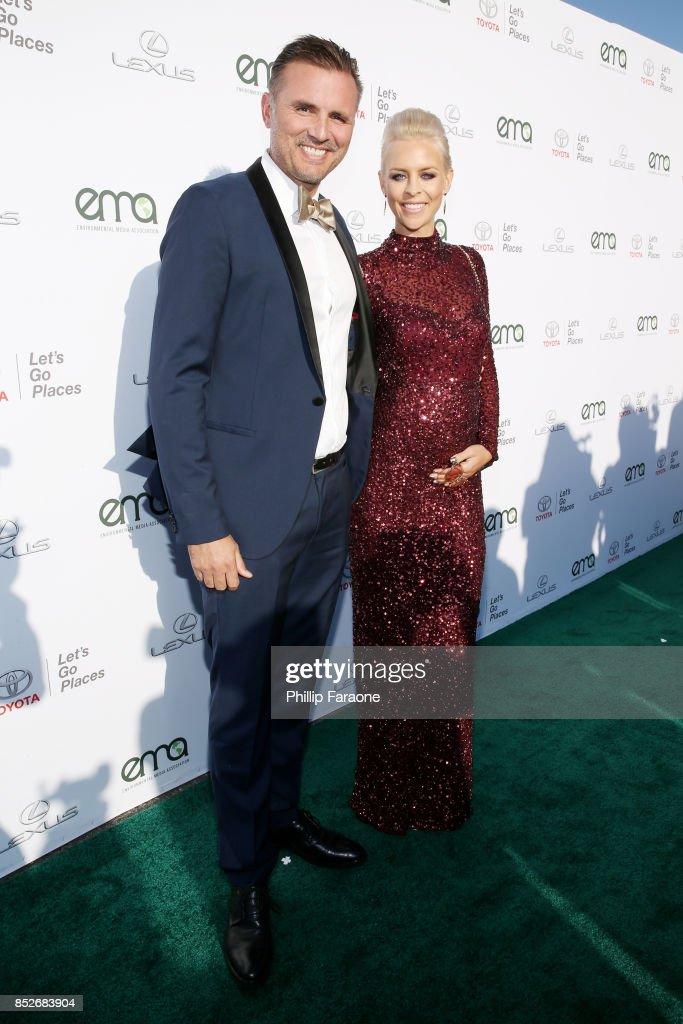 Justin Mahy (L) and Melinda Mahy at the Environmental Media Association's 27th Annual EMA Awards at Barkar Hangar on September 23, 2017 in Santa Monica, California.