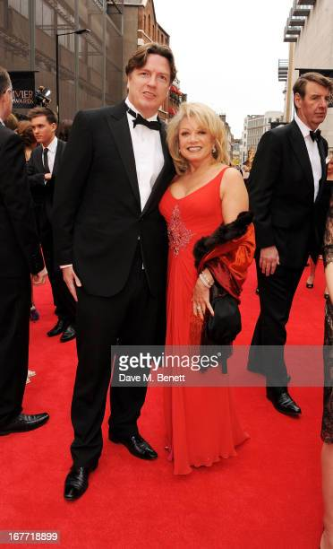 Justin Mallinson and Elaine Paige arrive at The Laurence Olivier Awards 2013 at The Royal Opera House on April 28 2013 in London England
