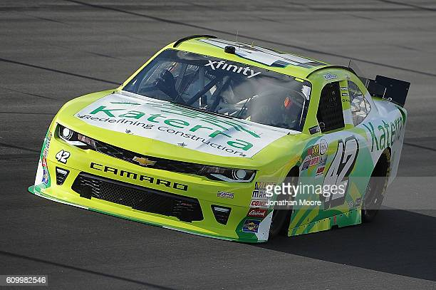 Justin Marks driver of the Katerra Chevrolet on track during practice for the NASCAR XFINITY Series VysitMyrtleBeachcom 300 at Kentucky Speedway on...