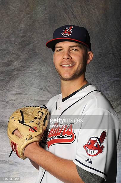 Justin Masterson of the Cleveland Indians poses for a portrait during a photo day at Goodyear Ballpark on February 28 2012 in Goodyear Arizona