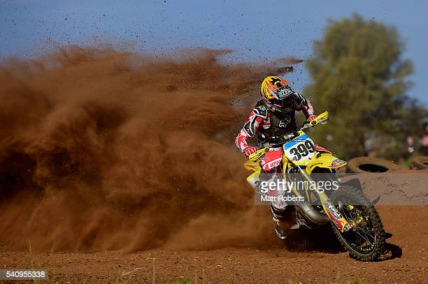 Justin McMahon competes during the 2016 Finke Desert Race on June 11 2016 in Alice Springs Australia