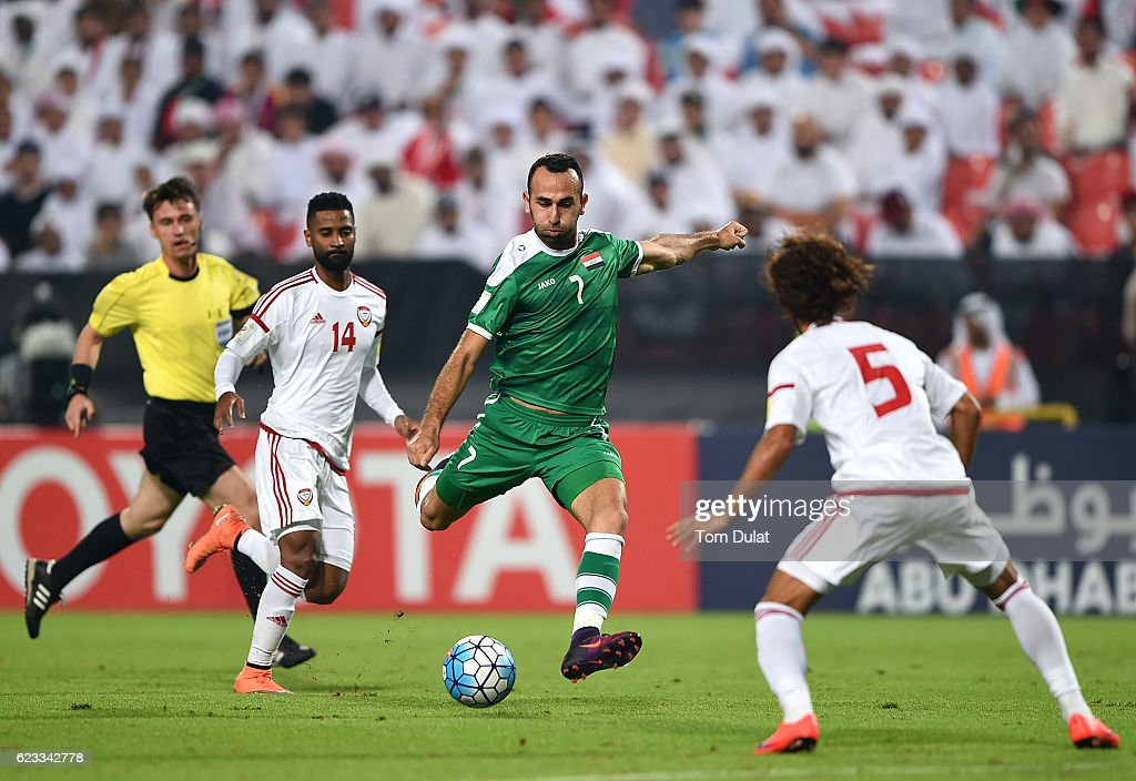 UAE v Iraq - 2018 FIFA World Cup Qualifier : News Photo