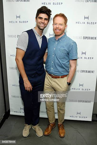 Justin Mikita and actor Jesse Tyler Ferguson attend Let's Get Under The Covers An Evening Of Cocktails And Change at Hotel Americano on June 27 2016...