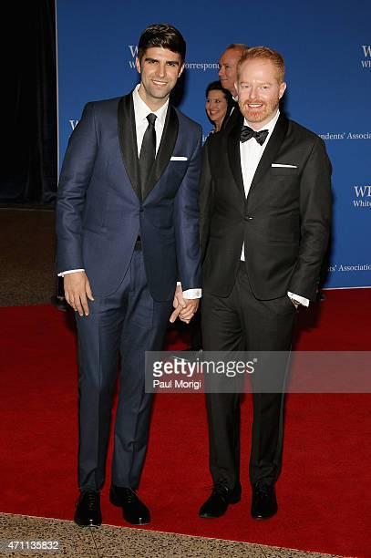 Justin Mikita and Jesse Tyler Ferguson attend the 101st Annual White House Correspondents' Association Dinner at the Washington Hilton on April 25...