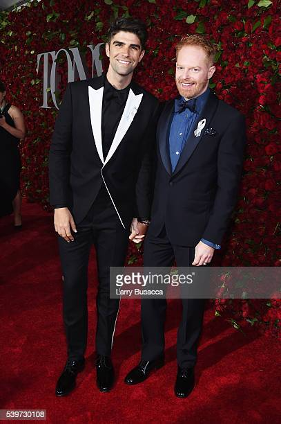 Justin Mikita and Jesse Tyler Ferguson attend the 70th Annual Tony Awards at The Beacon Theatre on June 12 2016 in New York City