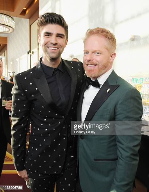 Justin Mikita and Jesse Tyler Ferguson attend The Human Rights Campaign 2019 Los Angeles Gala Dinner at JW Marriott Los Angeles at LA LIVE on March...