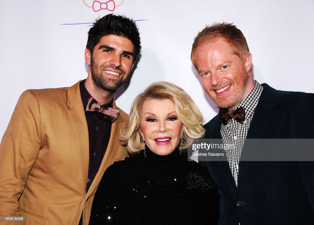 Justin Mikita, Joan Rivers and Jesse Tyler Ferguson attend Tie The Knot NYC at Avenue on February 27, 2013 in New York City.