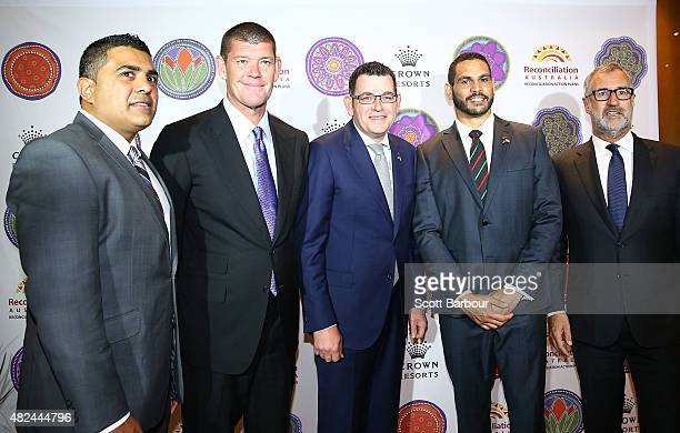 Justin Mohamed Chief Executive Officer Reconciliation Australia James Packer Crown Resorts Chairman Daniel Andrews MP Premier of Victoria Greg Inglis...