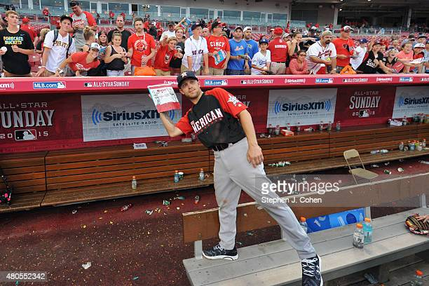 Justin Moore attends the 2015 MLB AllStar Legends And Celebrity Softball Game at Great American Ball Park on July 12 2015 in Cincinnati Ohio