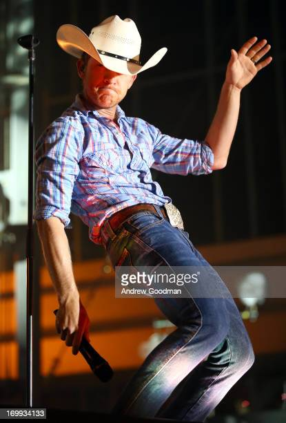 Justin Moore performs during Rodney Atkins' 3rd annual Music City Gives Back on June 4 2013 in Nashville Tennessee