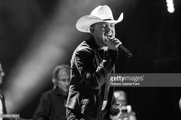 Justin Moore performs during the 2016 CMA Music Festival at Nissan Stadium on June 10 2016 in Nashville Tennessee