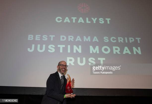 "Justin Moran of 'Rust"" wins Best Drama Script at the Catalyst Content Awards Gala on October 13 2019 in Duluth Minnesota"