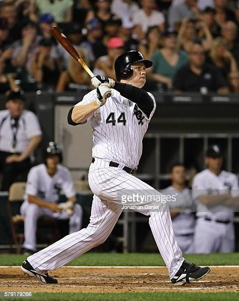 Justin Morneau of the Chicago White Sox hits a three run home run in the 5th inning against the Detroit Tigers at US Cellular Field on July 22 2016...