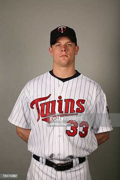 Justin Morneau of the Minnesota Twins poses during photo day at Hammond Stadium on February 26 2007 in Ft Myers Florida