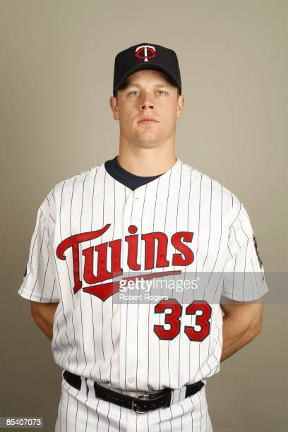 Justin Morneau of the Minnesota Twins poses during Photo Day on Monday February 23 2009 at Hammond Stadium in Fort Myers Florida