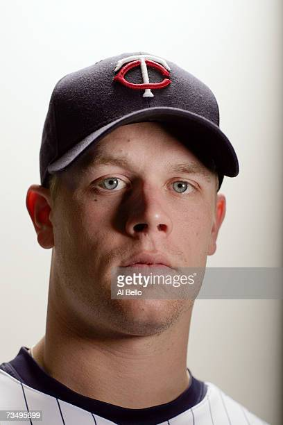 Justin Morneau of the Minnesota Twins poses during Photo Day on February 26, 2007 at Hammond Stadium in Fort Myers, Florida.