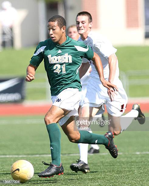 Justin Morrow in action for Notre Dame. University of Cincinnati came from behind to score two second half goals in a 2-1 victory over visiting Notre...