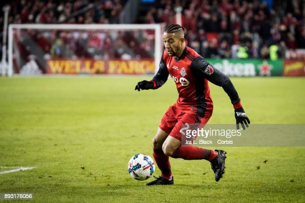 Justin Morrow of Toronto FC takes it to the goal during the 2017 Audi MLS Championship Cup match between Toronto FC and Seattle Sounders FC at BMO...