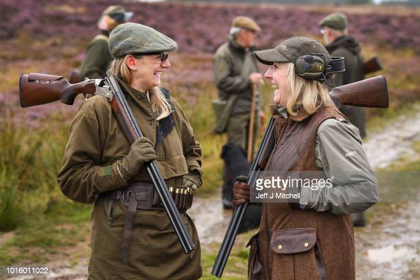 Justin Muir and Sheila Eastwood join a shooting party as they head out on first day of the grouse shooting season on Forneth Moor on August 13 2018...
