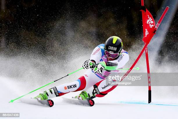 Justin Murisier of Switzerland competes in the Audi Birds of Prey World Cup Men's Giant Slalom on December 3 2017 in Beaver Creek Colorado