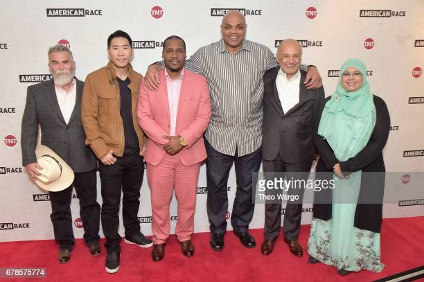 Justin Normand Peter Jae Kim Gerald Griggs Charles Barkley William H Billy Murphy Jr and Sharmina Zaidi attend the American Race Press Luncheon on...