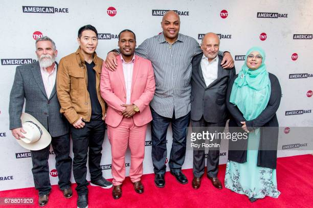 Justin Normand Peter Jae Kim Gerald Griggs Charles Barkley William H 'Billy' Murphy Jr and Sharmina Zaidi attend the American Race Press Luncheon at...