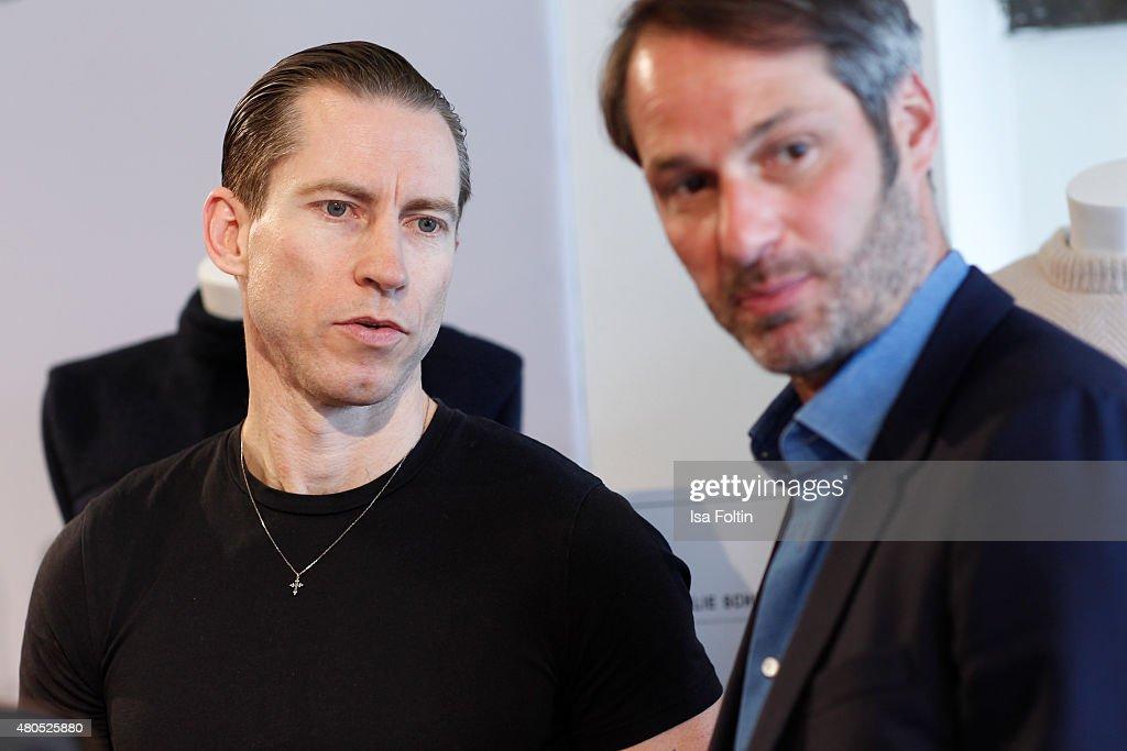 Justin O'Shea and Markus Kurz attend Der Berliner Modesalon on July 10, 2015 in Berlin, Germany.