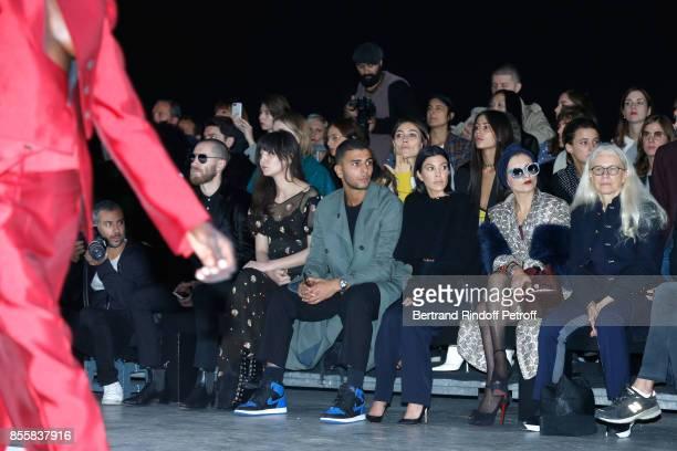 Justin O'Shea Irina Lazareanu Younes Bendjima Kourtney Kardashian Catherine Baba and Dominique Issermann attend the Haider Ackermann show as part of...