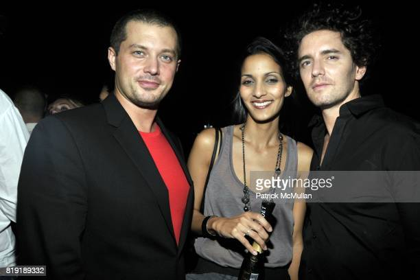 """Justin Parks, Michelle Fantauzzo and Vincent Fantauzzo attend THE CINEMA SOCIETY & 2IST Host The After Party for """"TWELVE"""" at Le Bain at The Standard..."""
