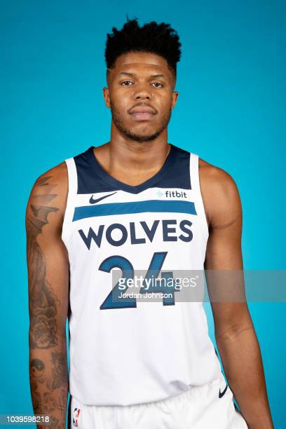 Justin Patton of the Minnesota Timberwolves poses for a headshot during the 2018 Media Day on September 24 2018 at Target Center in Minneapolis...