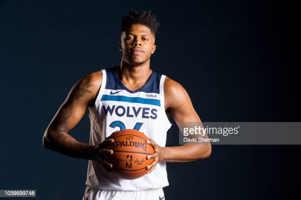 Justin Patton of the Minnesota Timberwolves poses for a portrait during the 2018 Media Day on September 24 2018 at Target Center in Minneapolis...