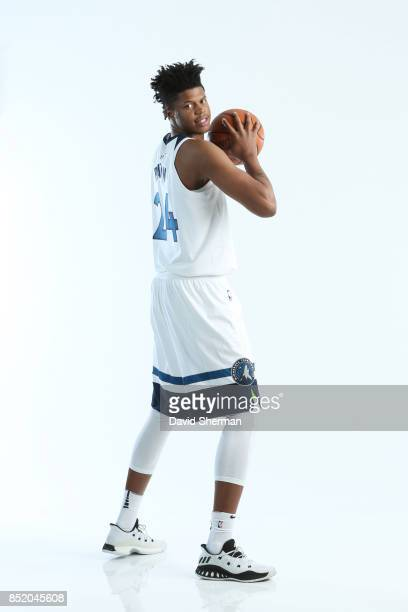 Justin Patton of the Minnesota Timberwolves poses for portraits during the 2017 Media Day on September 22 2017 at the Minnesota Timberwolves and Lynx...