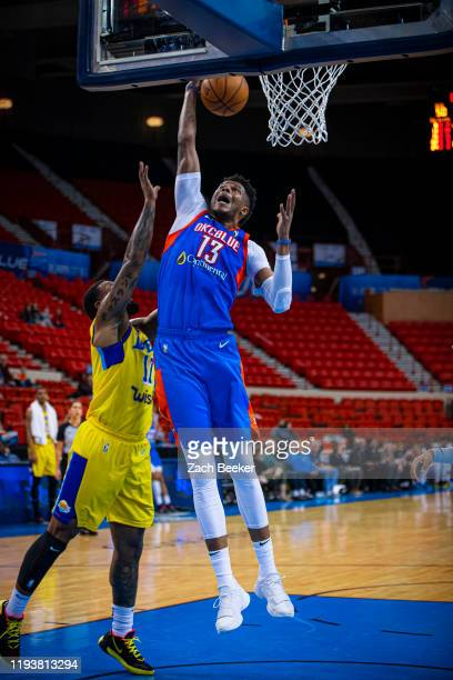 Justin Patton of the Oklahoma City Blue rebounds the ball against the South Bay Lakers during an NBA G-League game on January 14, 2020 at the Cox...
