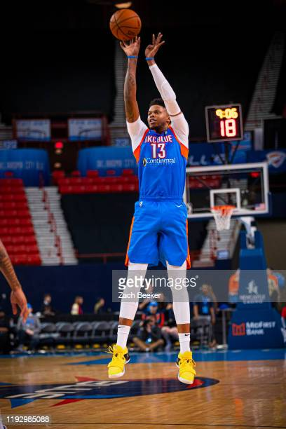 Justin Patton of the Oklahoma City Blue shoots the ball against the Raptors 905 during an NBA G-League game on January 10, 2020 at the Cox Convention...