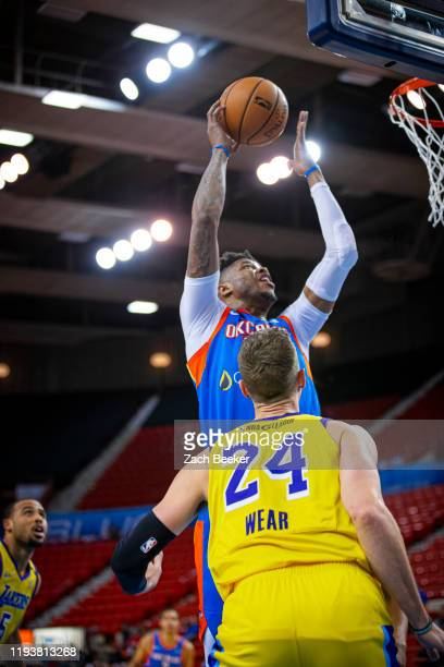 Justin Patton of the Oklahoma City Blue shoots the ball against the South Bay Lakers during an NBA G-League game on January 14, 2020 at the Cox...