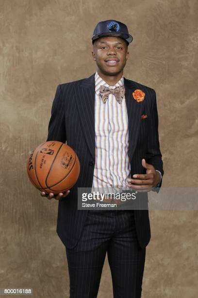 Justin Patton poses for a portrait after being selected sixteen overall by the Minnesota Timberwolves during the 2017 NBA Draft on June 22 2017 at...
