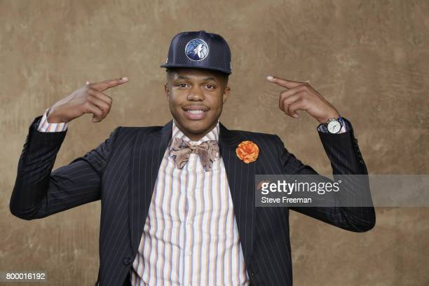 Justin Patton poses for a portrait after being selected sixteen overall by the Minnesota Timberwolves during the 2017 NBA Draft on June 22, 2017 at...