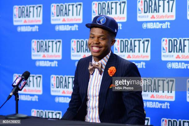 Justin Patton speaks with the media after being selected 16th overall by the Minnesota Timberwolves at the 2017 NBA Draft on June 22 2017 at Barclays...