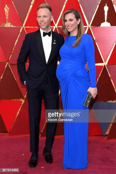 Justin Paul and Asher Fogle Paul attend the 90th Annual Academy Awards at Hollywood Highland Center on March 4 2018 in Hollywood California