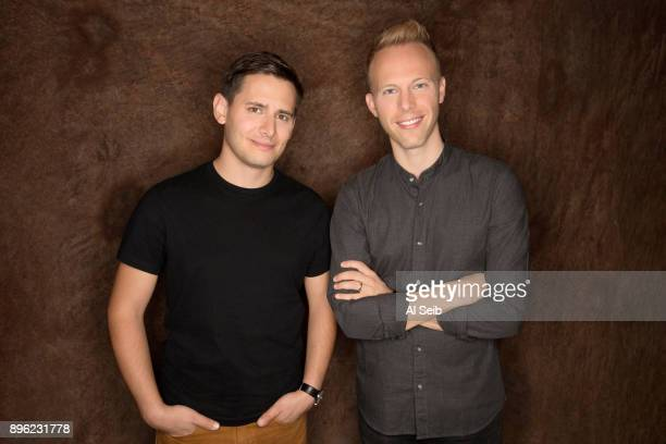 Justin Paul and Benj Pasek are photographed for Los Angeles Times on October 25 2017 in Los Angeles California PUBLISHED IMAGE CREDIT MUST READ Al...