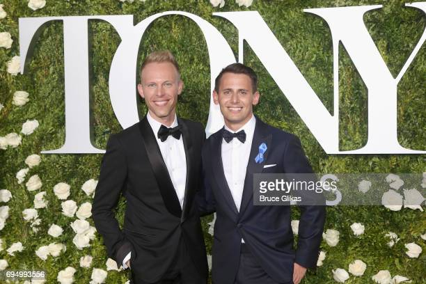 Justin Paul and Benj Pasek attend the 71st Annual Tony Awards at Radio City Music Hall on June 11 2017 in New York City