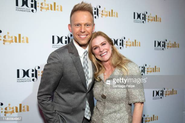 Justin Paul and Elizabeth Dewberry attend the 2019 Dramatists Guild Foundation Gala at The Ziegfeld Ballroom on November 04 2019 in New York City