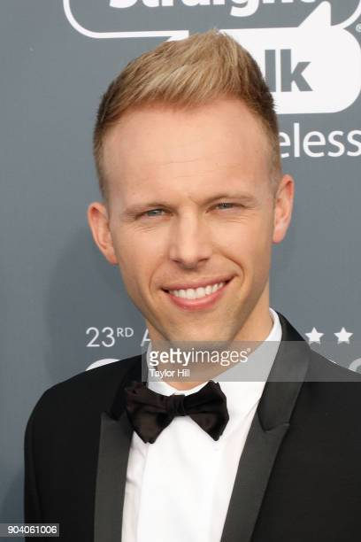 Justin Paul attends the 23rd Annual Critics' Choice Awards at Barker Hangar on January 11 2018 in Santa Monica California
