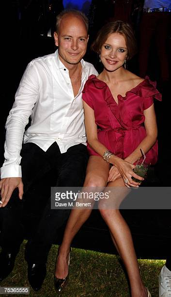 Justin Portman and Natalia Vodianova attend the Serpentine Summer Party at The Serpentine Gallery on July 11 2007 in London England