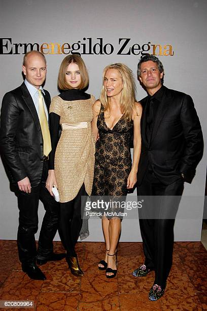 Justin Portman Natalia Vodianova Vanessa Guerrand Hermes and Carlos Souza attend Private Dinner with ERMENEGILDO ZEGNA The Robin Hood Foundation at...