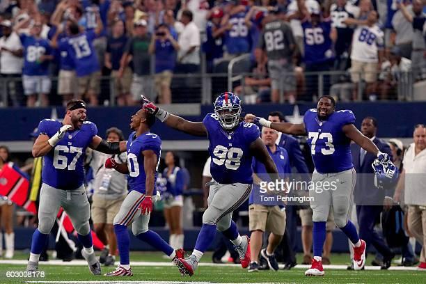 Justin Pugh of the New York Giants Victor Cruz of the New York Giants Damon Harrison of the New York Giants and Marshall Newhouse of the New York...