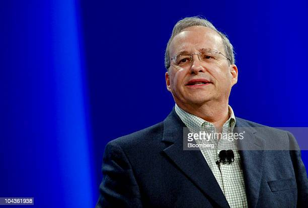 Justin Rattner vice president and chief technology officer of Intel Corp speaks at the Intel Developer Forum 2010 in San Francisco California US on...