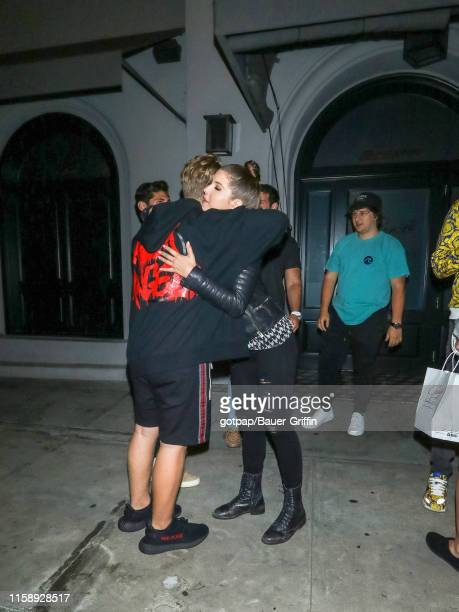 Justin Roberts and Amanda Cerny are seen on July 31 2019 in Los Angeles California