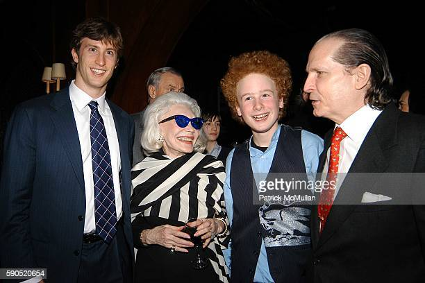 Justin Rockefeller Ann Slater James Garfunkel and John Cahill attend Kim Garfunkel performance at Au Bar on January 17 2005 in New York City